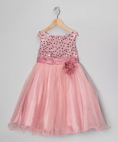 Look at this #zulilyfind! Rose Sequin Tulle A-Line Dress - Infant, Toddler & Girls by Kid's Dream #zulilyfinds