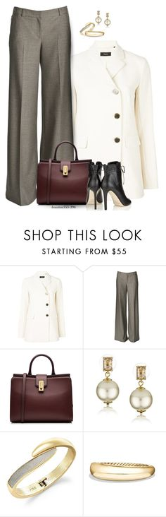 """""""Classic Trousers"""" by houston555-396 ❤ liked on Polyvore featuring Theory, Alice + Olivia, Marc Jacobs, Kate Spade, ABS by Allen Schwartz, David Yurman and Jimmy Choo"""