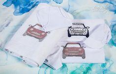 Λαδόπανο σε λευκό χρώμα, με διακοσμητικό απλικέ-κέντημα αυτοκινητάκι., annassecret, Χειροποιητες μπομπονιερες γαμου, Χειροποιητες μπομπονιερες βαπτισης