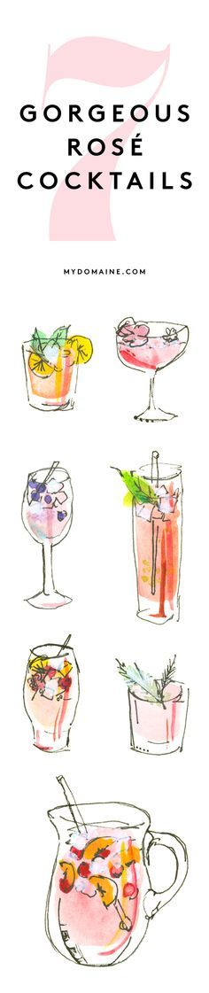 Rosé #Cocktail recipes for the summer. #entertaining #wine