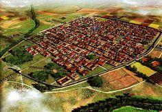Recreación virtual de la antigua ciudad romana de Complutum, único asentamiento urbano en el entorno de San Fernando durante el imperio romano, que contó con cerca de 15.000 habitantes, en parte de lo que hoy es Alcalá de Henares.
