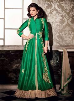Art Silk Lehenga Style Suit Starring Priyanka Chopra