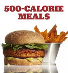 500 calorie dinners - coconut curry chickpeas and spinach asian salmon burger fettuccine avocado Skinny Recipes, Diet Recipes, Cooking Recipes, Healthy Recipes, Salmon Recipes, Superfood Recipes, Frozen Sweet Potato Fries, Freeze Sweet Potatoes, 500 Calorie Dinners