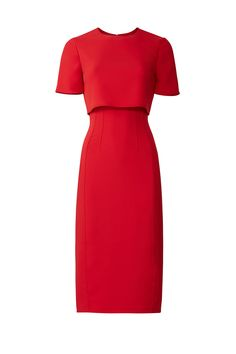 Red Popover Sheath by Jason Wu Collection Elegant Outfit, Classy Dress, Classy Outfits, Elegant Dresses, Fall Dresses, Dresses For Work, Club Dresses, Birthday Outfit For Women, Fashion Clipart
