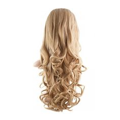 Eva Long Loose Curls Half-Head Wig ($36) ❤ liked on Polyvore featuring beauty products