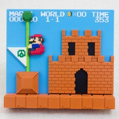 Super Mario Bros. Stage Figure 1-1 Castle Nintendo Dotgraphics JAPAN NES