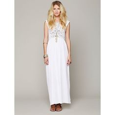 Free People Nightcap Isobel Crochet Maxi Dress ($275) ❤ liked on Polyvore