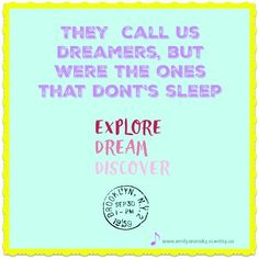 They call me a dreamer #ssgu #unicorns #nevergiveuponyourdreams #theycallmeadreamer #cantatopwontstop