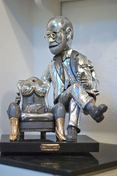 Freud with cristal woman