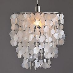 How to enter light into your rooms with DIY capiz shell chandelier