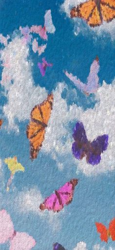 Aesthetic Backgrounds, Aesthetic Iphone Wallpaper, More Wallpaper, Picture Wall, All The Colors, Butterfly, Kawaii, Landscape, My Favorite Things