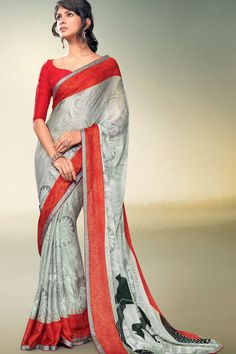 Buy Cheap Casual Printed Sarees Online