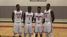 OSU freshmen from left to right:  Keita Bates-Diop, Jae'Sean Tate, D'Angelo Russell and David Bell.