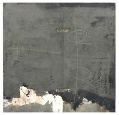 """Denis De Mot, """"2007/AU""""  2007  127 x 129 cm   technique mixte sur pvc"""