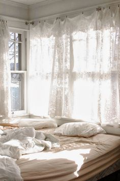 Oracle, Fox, Sunday, Sanctuary, White, Out, White, Interiors, Window, white, bedroom, lace