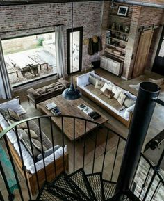 Via Industrial Living Room - Architecture and Home Decor - Bedroom - Bathroom - Kitchen And Living Room Interior Design Decorating Ideas - Home Design, Home Interior Design, Interior Architecture, Design Ideas, Room Interior, Interior Ideas, Design Design, Design Trends, Windows Architecture