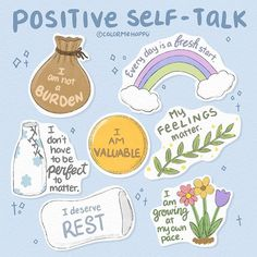Positive Self Affirmations, Positive Self Talk, Positive Quotes, Self Care Bullet Journal, Mental And Emotional Health, Self Care Activities, Self Improvement Tips, Self Care Routine, Health Quotes