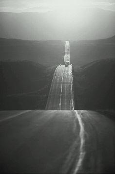Take a drive along a long and narrow road...destination, nowhere.