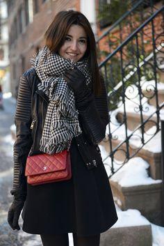 Alexandra Pereira Lovely Pepa Stylekeepers dress Mango jacket Zara scarf Chanel Woc bag #StreetStyle