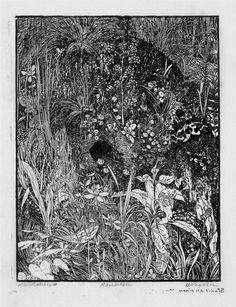 Epic Das Mauseloch Heinrich Vogeler Strich tzung nach einer Federzeichnung gedruckt auf d nnes Japanb tten