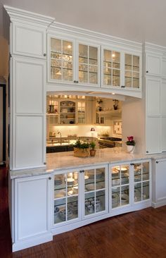 Traditional Pass Through Kitchen Design Ideas, I Love The Double Glass  Doors On Both Sides   But On Both Bottom U0026 Top Cabinets (I Wouldnu0027t Be Able  To Hide ...
