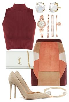 """""""Untitled #64"""" by biancamarie17 on Polyvore featuring Lipsy, Gianvito Rossi, WearAll, Yves Saint Laurent, Anne Klein and Irene Neuwirth"""