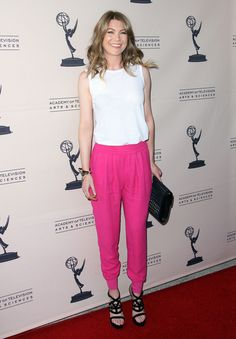 Ellen Pompeo Harem Pants - Ellen Pompeo Looks - StyleBistro