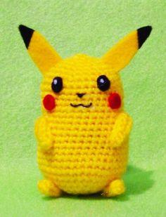 Crochet Pikachu Pokemon Amigurumi Finish Doll, $16.90