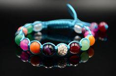 Women's Colorful Agate Bracelet Multi Color Bracelet