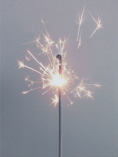 this isn't happiness™ - This sparkler looks so much like a dandelion. How wonderful.
