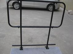 Guard rails for stage stair panels