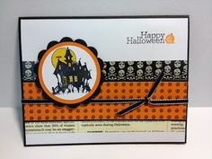 Best of Halloween Haunted House Halloween Card Stampin' Up! Rubber Stamping Handmade Cards
