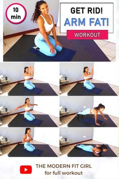 Arm Workout Women No Equipment, Fitness Workout For Women, Fitness Goals, Fitness Tips, Lose Arm Fat Fast, Fat To Fit, Exercise To Reduce Arms, Exercise For Flabby Arms, Body Weight Leg Workout
