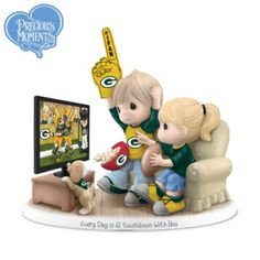 Whaaaaat?! Precious Moments Green Bay Packers Fan Porcelain Figurine
