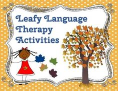 A huge set of language activities and game board all set in a theme of fall leaves.  Posters for each activity are provided with definition of that category.