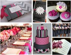 Grey and pink wedding ideas!! My colors!! Grey is soooo classy & pink is my favorite color