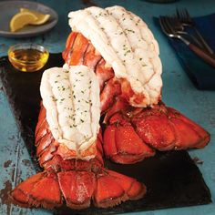 Learn how to cook lobster tails with Lobster Gram. Grill, broil, bake & boil lobster tails using our easy cooking frozen lobster tail instructions and lobster tail recipes. Boil Lobster Tail, Baked Lobster Tails, Broiled Lobster Tails Recipe, Shrimp And Lobster, Lobster Dinner, Grilled Lobster, Lobster Gram, Giant Lobster, Grilled Seafood