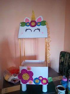 first birthday onederland Unicorn Birthday Parties, Birthday Party Decorations, Diy And Crafts, Crafts For Kids, Unicorn Crafts, Valentine Box, Deco Table, Craft Gifts, First Birthdays