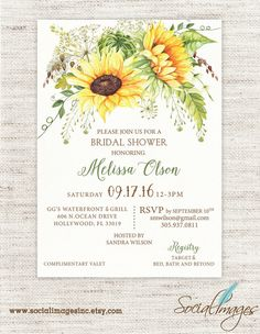 Sunflower bridal shower invitation rustic burlap mason jar sunflower bridal shower invitation weddings by socialimagesinc filmwisefo