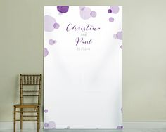 Personalized Purple Orchid Dots Design Photo Backdrop