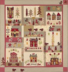 A Woodland Christmas Block of the Month designed by Bunny Hill