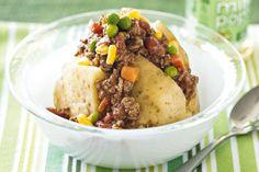 Try these tantalisingly tasty Speedy bolognaise jacket potatoes.