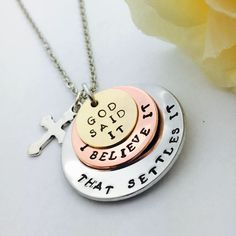 A personal favorite from my Etsy shop https://www.etsy.com/listing/542091285/hand-stamped-jewelry-stacked-necklace