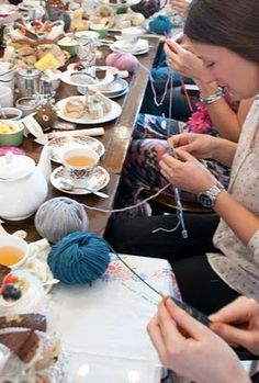 crafternoon...high tea and craft, fun idea for hens party/ baby shower...