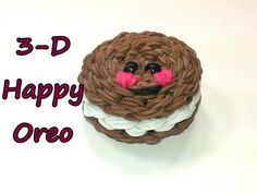 3-D Happy Oreo Tutorial by feelinspiffy (Rainbow Loom)