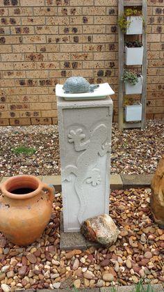 Hebel Brick Sculpture of a Lizzard