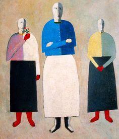 Three Girls - Kazimir Malevich. Art Experience NYC www.artexperiencenyc.com/social_login/?utm_source=pinterest_medium=pins_content=pinterest_pins_campaign=pinterest_initial