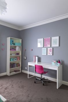 ... 10 Year Old Girl Bedroom Designs. Bigger Desk With Tall Shelves For  Graceu0027s Room. Lynedoch Ave_8