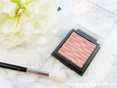 Glowing Summer Eyes and Cheeks with Mirabella Lighten Up Collection Glowing Coral Highlighter *pr samples