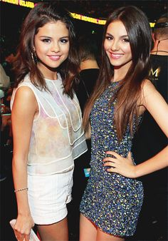 Selena Gomez & Victoria Justice/ so much alike!!!!! They also look so much alike!!:) I love them both